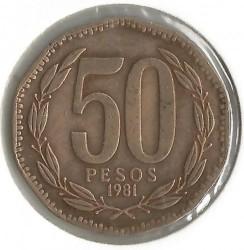 Монета > 50песо, 1981-1987 - Чилі  - reverse