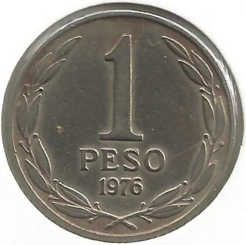 1 Peso 1976 1977 Chile Coin Value