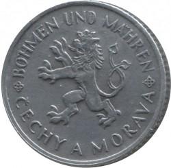Coin > 1koruna, 1941-1944 - Bohemia and Moravia  - obverse