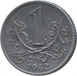 Coin > 1koruna, 1941-1944 - Bohemia and Moravia  - reverse