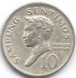 Moneta > 10 sentimos, 1967-1974 - Filippine  - obverse