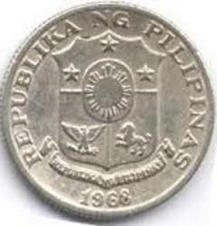 Moneta > 10sentimos, 1967-1974 - Filippine  - obverse