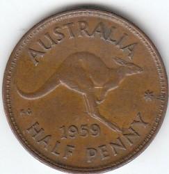 Moneta > ½pensa, 1959-1964 - Australia  - reverse