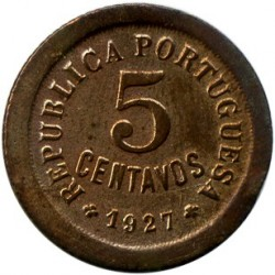 Mynt > 5centavos, 1924-1927 - Portugal  - obverse