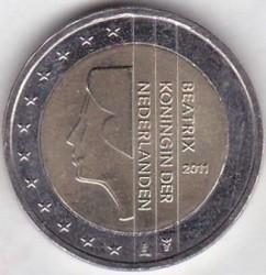 Moeda > 2euro, 2007-2013 - Holanda  - obverse