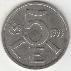 Moneda > 5lei, 1993 - Moldavia  - reverse