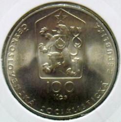 Moneta > 100corone, 1983 - Cecoslovacchia  (100° anniversario - Nascita di Jaroslav Hašek) - obverse