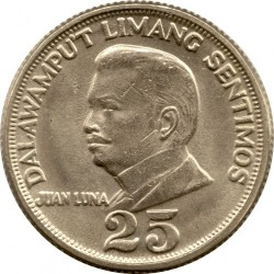 Mynt > 25sentimos, 1967-1974 - Filippinene  - reverse