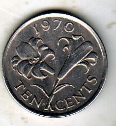 錢幣 > 10分, 1970-1985 - 百慕達  - reverse