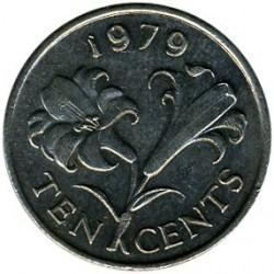 Moeda > 10cêntimos, 1979 - Bermudas  - reverse