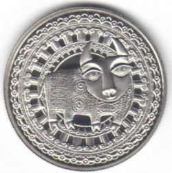 Moneta > 1rubel, 2009 - Białoruś  (Znaki zodiaku - Byk) - obverse