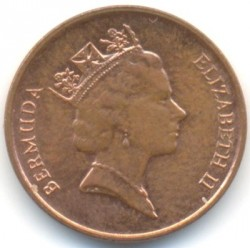 Coin > 1cent, 1988 - Bermuda  (Copper plated Steel /magnetic/) - reverse
