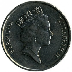 Moeda > 25cêntimos, 1986-1998 - Bermudas  - obverse