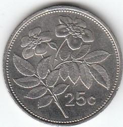 Pièce > 25cents, 1991-2007 - Malte  - reverse