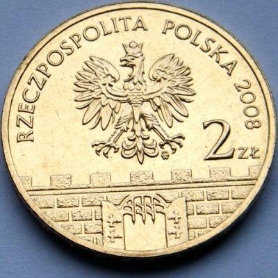 Poland 2 zloty 2008 Bielsko-Biala Bielsko-Biała #406 UNC