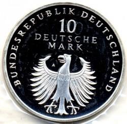 Moneda > 10marcos, 1998 - Alemania  (50avo Aniversario - Del la moneda marco Aleman) - obverse