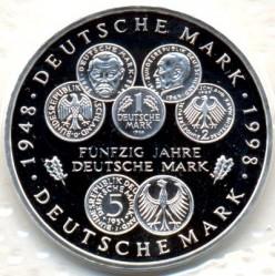 Moneda > 10marcos, 1998 - Alemania  (50avo Aniversario - Del la moneda marco Aleman) - reverse