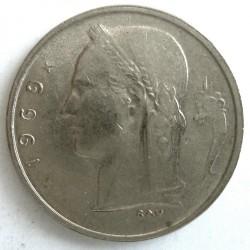 """Minca > 1frank, 1969 - Belgicko  (Nadpis v holandčine - """"BELGIE"""") - obverse"""