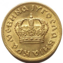 Монета > 1динар, 1938 - Югославия  - obverse