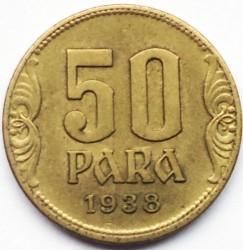 Кованица > 50пара, 1938 - Југославија  - reverse