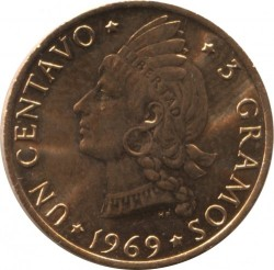 Mynt > 1centavo, 1969 - Dominikansk republikk  (FAO - Let's produce more food) - reverse
