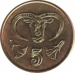 Pièce > 5cents, 1985-1990 - Chypre  - reverse