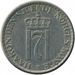 Pièce > 1krone, 1951-1957 - Norvège  - obverse