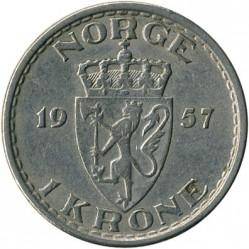 Pièce > 1krone, 1951-1957 - Norvège  - reverse
