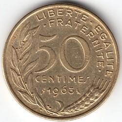 Moneta > 50centymów, 1962-1964 - Francja  - reverse
