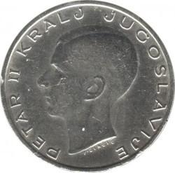 Moneda > 20dinares, 1938 - Yugoslavia  - obverse