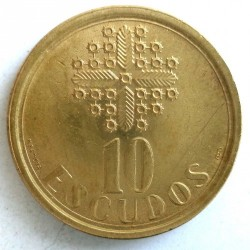 Mynt > 10escudos, 1986-2001 - Portugal  - reverse