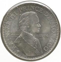 Moneda > 50francos, 1974 - Mónaco  (25 aniversario - Reinado de Rainiero III) - obverse