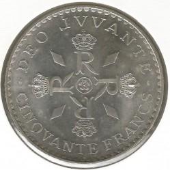 Moneda > 50francos, 1974 - Mónaco  (25 aniversario - Reinado de Rainiero III) - reverse