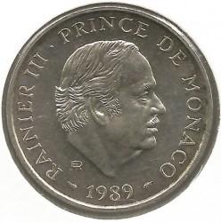 Moneda > 100francos, 1989 - Mónaco  (40 aniversario - Reynado de Rainiero II) - obverse