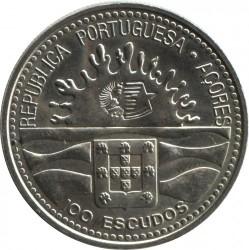 Монета > 100ескудо, 1995 - Азорські острови  (100-та річниця Азорської автономії) - obverse