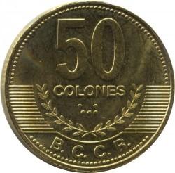 Moneta > 50kolonų, 2006-2015 - Kosta Rika  - reverse