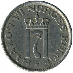 Moneda > 50öre, 1953-1957 - Noruega  - obverse