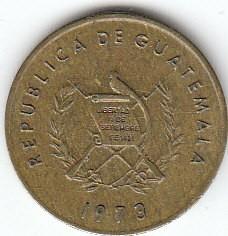 Munt > 1centavo, 1972-1973 - Guatemala  - obverse
