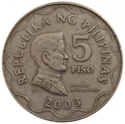 Coin > 5piso, 2003 - Philippines  - reverse