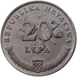 Münze > 20Lipa, 1993-2017 - Kroatien   - reverse