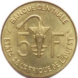 Moneta > 5franków, 1965-2018 - Afryka Zachodnia (BCEAO)  - obverse