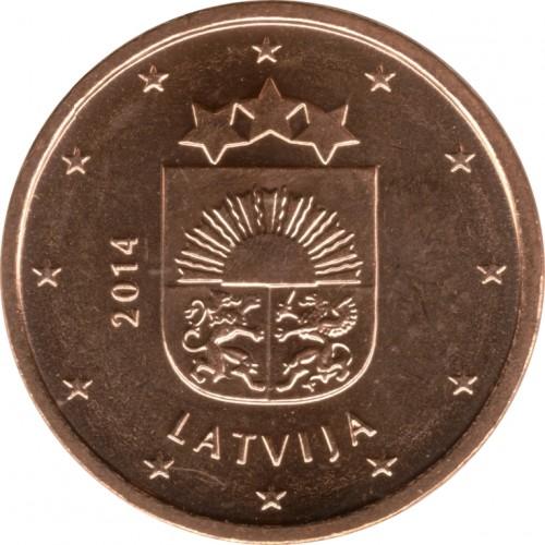 1 Eurocent 2014 2018 Lettland Münzen Wert Ucoinnet