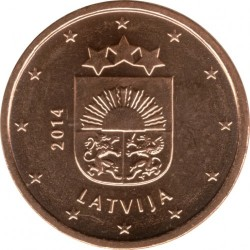 Монета > 1євроцент, 2014-2018 - Латвія  - obverse