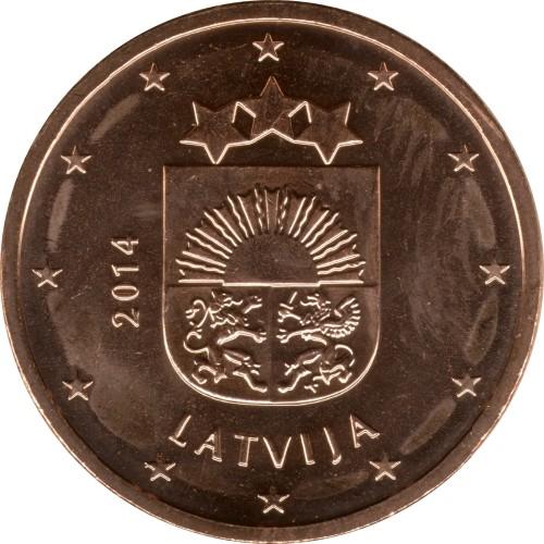 5 Eurocent 2014 2018 Lettland Münzen Wert Ucoinnet