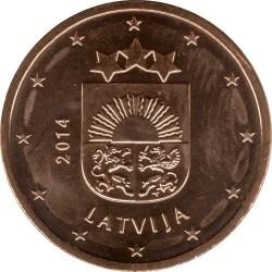 العملة > 5سنتاليورو, 2014-2019 - لاتيفيا  - obverse