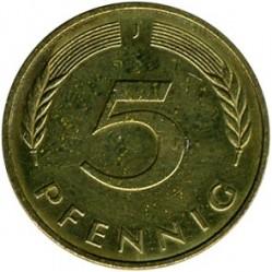Münze > 5Pfennig, 1995 - Deutschland  - reverse