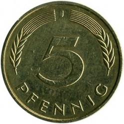 Münze > 5Pfennig, 1996 - Deutschland  - reverse