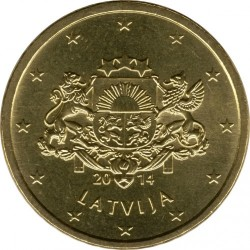 Münze > 50Eurocent, 2014-2018 - Lettland   - obverse