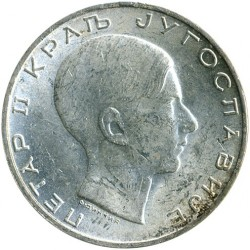 Moneta > 50dinarów, 1938 - Jugosławia  - obverse