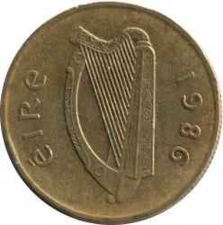 Coin > 20pence, 1986 - Ireland  - obverse